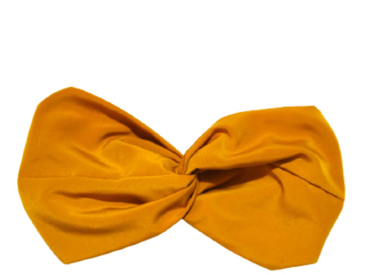 headband uni couleur ocre createur français collection leonie et france gra